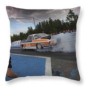 Drag Racing 3 Throw Pillow