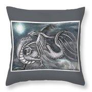 Dragon And Phoenix Throw Pillow