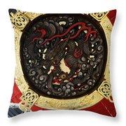 Dragon At The Senso-ji Temple Throw Pillow