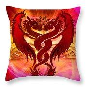 Dragon Duel Series 15 Throw Pillow