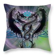 Dragon Duel Series 18 Throw Pillow