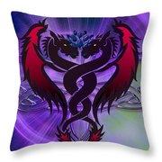 Dragon Duel Series 19 Throw Pillow