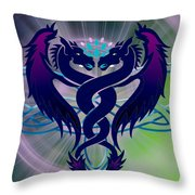 Dragon Duel Series 2 Throw Pillow