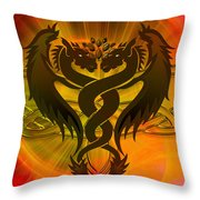 Dragon Duel Series 3 Throw Pillow