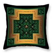 Dragon Egg Celtic Cross Throw Pillow
