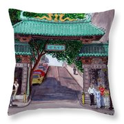Dragon Gate Throw Pillow