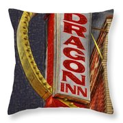 Dragon Inn Restaurant  Throw Pillow