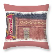 Dragon Inn Restaurant Sign Throw Pillow
