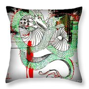 Dragon Inverted Throw Pillow