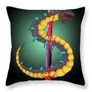 Dragon Spike One Throw Pillow