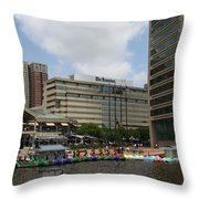 Dragonboats - Inner Harbor Baltimore Throw Pillow