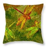 Dragonflies Abound Throw Pillow