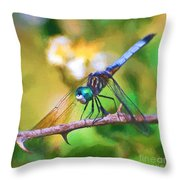 Dragonfly Art - A Thorny Situation Throw Pillow
