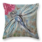 Dragonfly Baby II  Throw Pillow