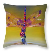 Dragonfly Colors Throw Pillow
