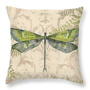 Dragonfly Daydreams-c Throw Pillow