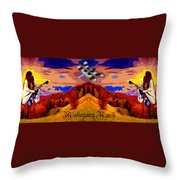 Dragonfly Morning 1 Throw Pillow