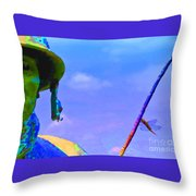 Dragonfly Soldier Throw Pillow