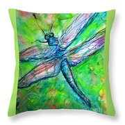 Dragonfly Spring Throw Pillow