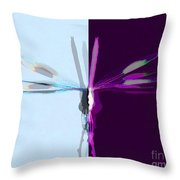 Dragonfly Work 1 Throw Pillow