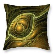 Dragon's Eye - Abstract Art Throw Pillow
