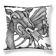 Dragon's Fire Throw Pillow