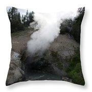Dragon's Mouth Hot Spring Throw Pillow