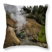 Dragon's Mouth Spring - Yellowstone Throw Pillow
