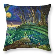 Dragon's Slumber  Throw Pillow