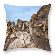 Dragon's Teeth Rocks Throw Pillow