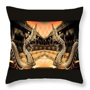 Dragon's Temple Throw Pillow