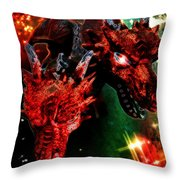 Dragons W/border Throw Pillow