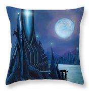Dragontown Throw Pillow