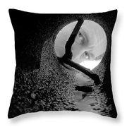 Drain Pipe - Artist Self Portrait Throw Pillow