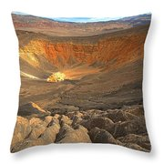 Draining Into The Crater Throw Pillow