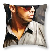 Drake Artwork 2 Throw Pillow