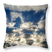 Drama Cloud Sunset I Throw Pillow