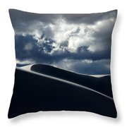 Drama Of The White Sands Throw Pillow