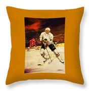 Drama On Ice Throw Pillow