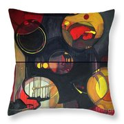 Drama Resolved 1 And 3 Throw Pillow
