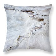 Dramatic Abstract At White Sands Throw Pillow