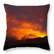 Amber Twilight Throw Pillow