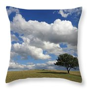 Dramatic Clouds And The Tree Throw Pillow