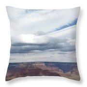 Dramatic Clouds Over The Grand Canyon Throw Pillow