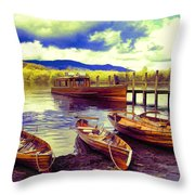 Dramatic Derwent Throw Pillow