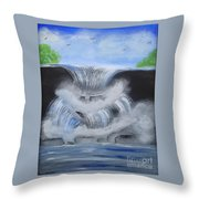 Dramatic Falls Throw Pillow