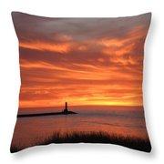 Dramatic Flaming Sunset Throw Pillow