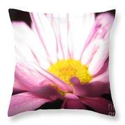 Dramatic Pink Throw Pillow