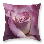Dramatic Plum Rose Flower Throw Pillow
