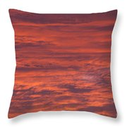 Dramatic Red Sky Throw Pillow